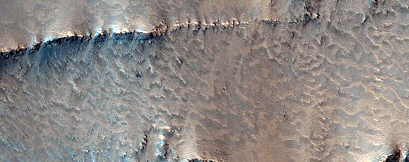 Layers in Valles Marineris Wall