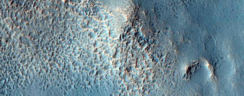 Terrain Northeast of Newton Crater