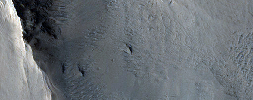 Craters and Yardangs at South Edge of Amazonis Planitia