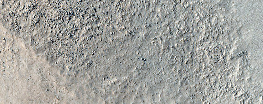 Central Structure of Gledhill Crater
