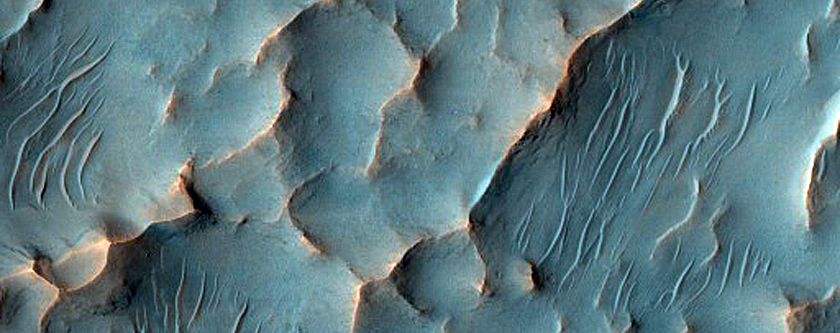 Sinuous Ridges and Possible Layers
