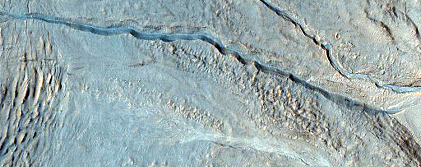 Slope Features in Palikir Crater