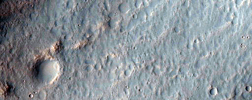 Central Pit Crater with Possibly Active Slope Processes