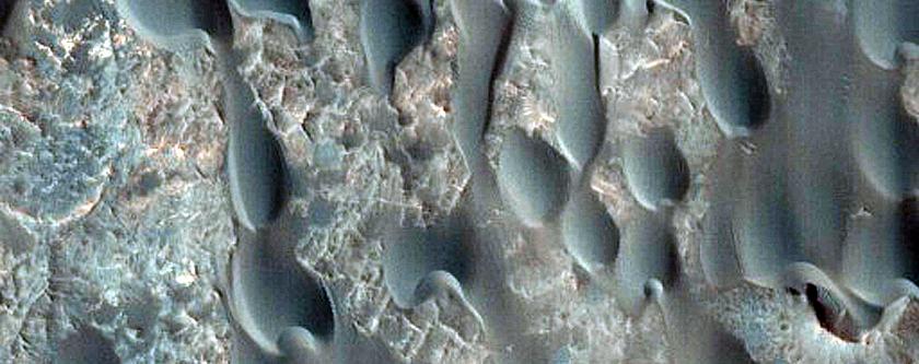 Dunes in Becquerel Crater