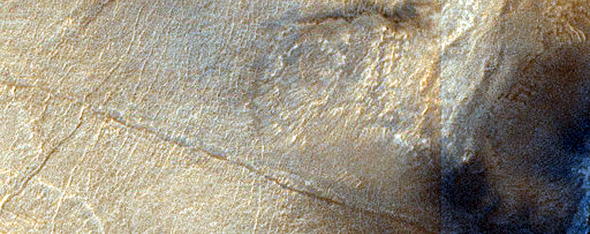 Monitor Crater Slope in Hellas Planitia