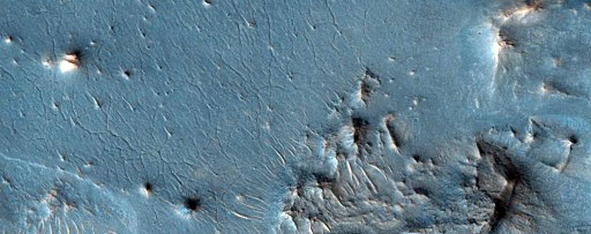 Possible Impact Melt in Crater Floor in Terra Sabaea