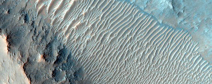 Depression Amid Flows in Pickering Crater