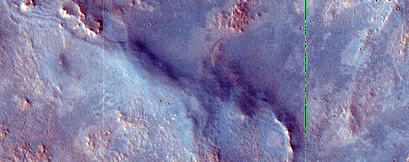 Northern Syrtis Major Contact with Ancient Terrain