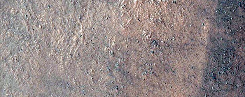 Lobate Debris Apron with Superposed Gullies in Nereidum Montes