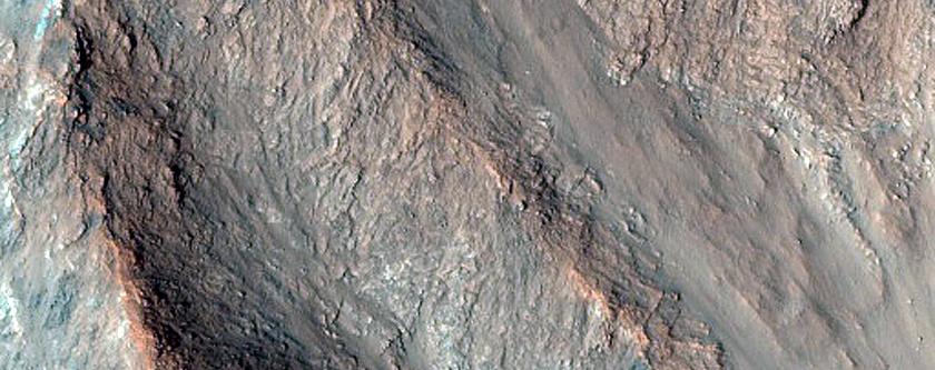 Debris Flows on Eos Chasma Walls