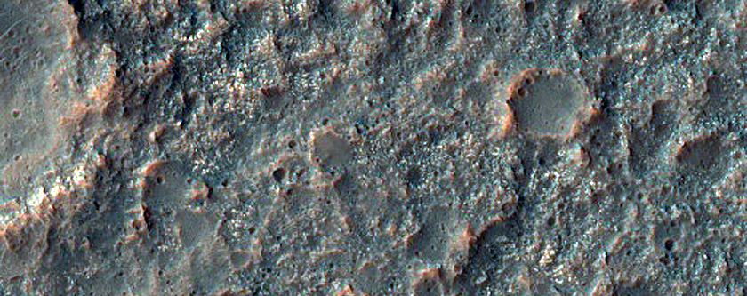 Patchy Outcrop of Light-Toned Materials