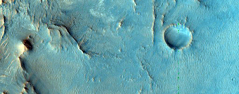 Nili Fossae Crater Wall with Phyllosilicates