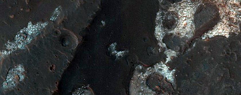 Narrow Lobate Landform with Ridged Margins in Torup Crater