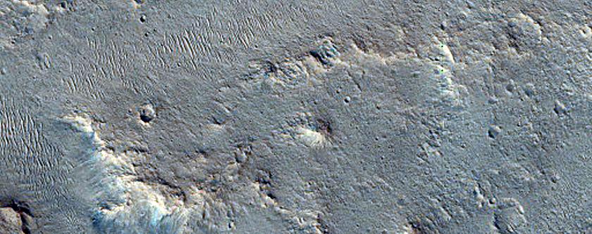 Channels in Xanthe Terra South of Da Vinci Crater