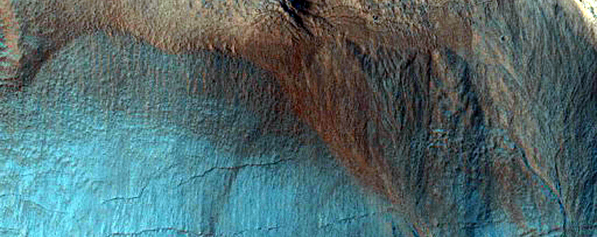 Neighboring Gullies with Superposition Relationships