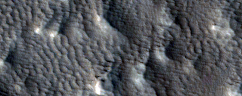 Reticulate Bedform Change Detection on Arsia Mons West Flank