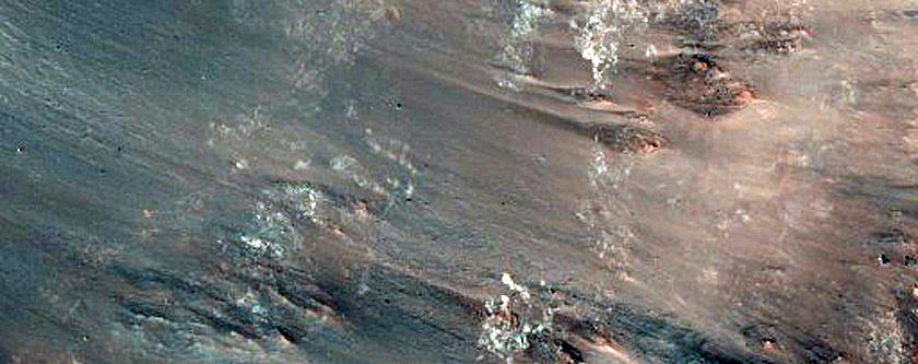 Rim of 9-Kilometer Diameter Crater in Terra Sabaea