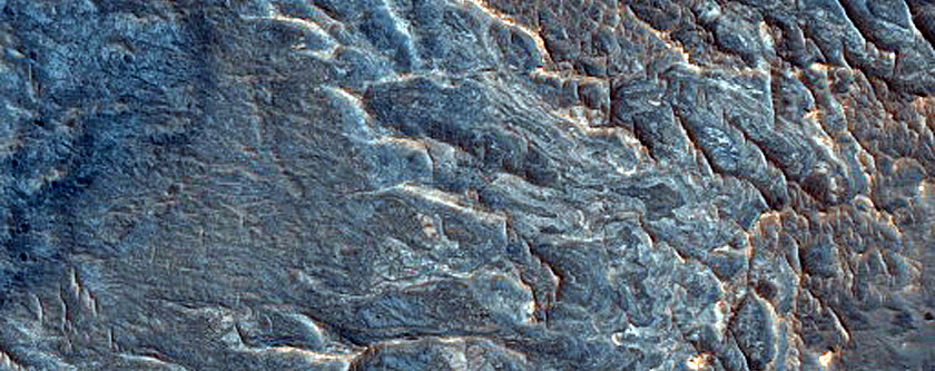 Sinuous Ridges near Juventae Chasma
