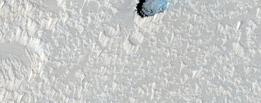 Pit near Arsia Mons