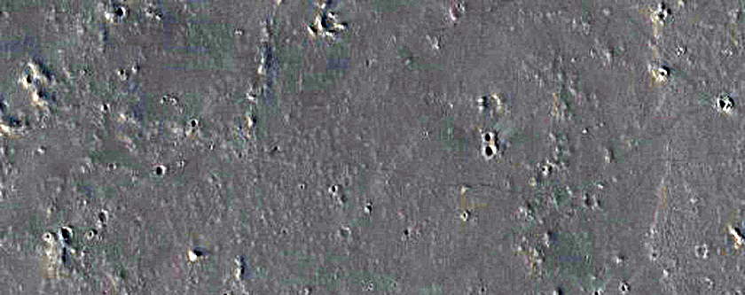 Candidate Recent Impact Site in Tharsis Region