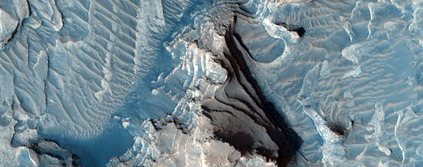 Layered Deposits from Crater Floor to Rim
