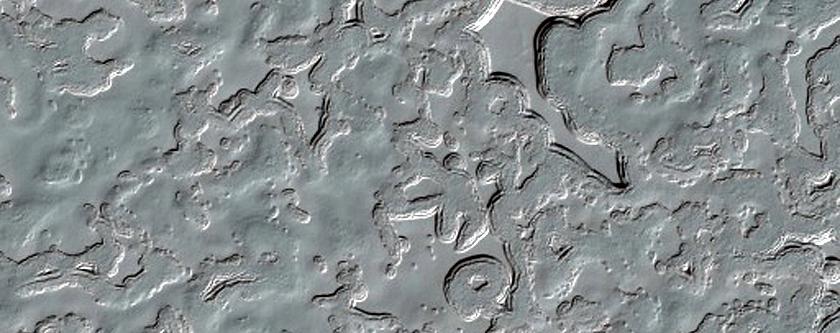 South Polar Layered Deposits Swiss Cheese Terrain
