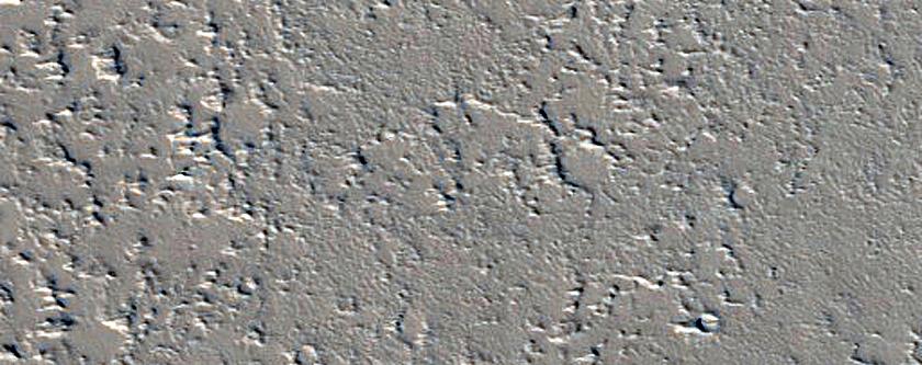 Candidate Recent Impact Site near Ceraunius Fossae
