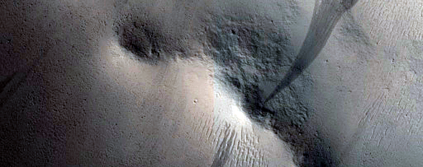Lobate Ejecta Interaction with Existing Craters