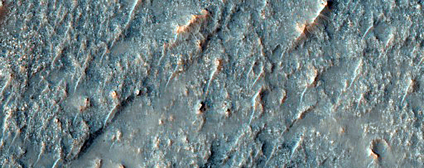 Lobate Features in Southeast Koval Sky Crater