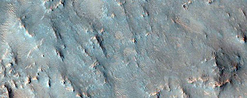 Olivine-Rich Crater Floor Deposit
