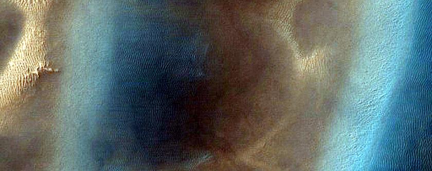 Ripple Change Detection in Dokuchaev Crater