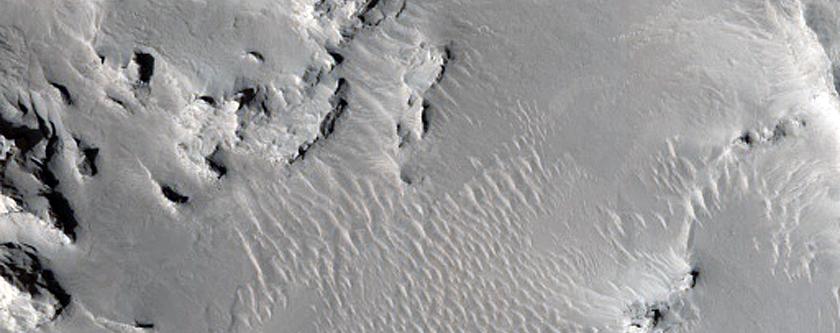 Degraded Crater in Meridiani Planum