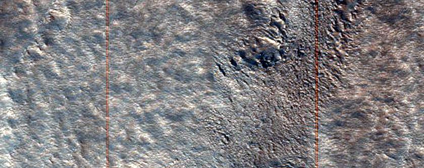Escarpment in Tempe Terra