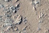 Terrain around Tooting Crater