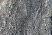 Channel near Moreux Crater