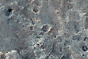 Fan Material in Crater within Southern Gale Crater