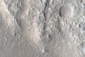 Terrain around Sinton Crater