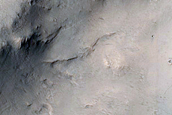 Layering in Trouvelot Crater