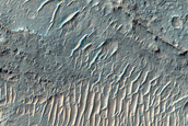 Flow Deposits in Eastern Ladon Valles
