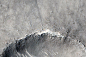 Sediment Fan Northwest of Peridier Crater