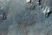 Continuous Ejecta in Northern Noord Crater