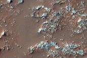 Crater Floor Deposit in Tyrrhena Terra