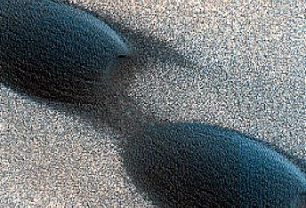 Migrating Dunes on Ice