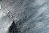 Monitor Slopes of Well-Preserved Crater