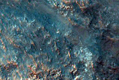 Central Peak of Impact Crater North of Hellas Planitia