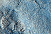 Contact Between Debris Apron and Upper Plains in Deuteronilus Mensae