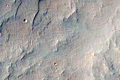 Light-Toned Ridge Segment and Circular Mesas