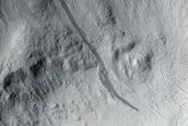 Crater near Marte Vallis