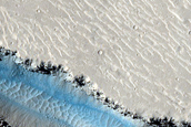 Possible Rock Falls on Steep Slopes in Cerberus Fossae