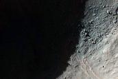 Fresh 1-Kilometer Diameter Crater
